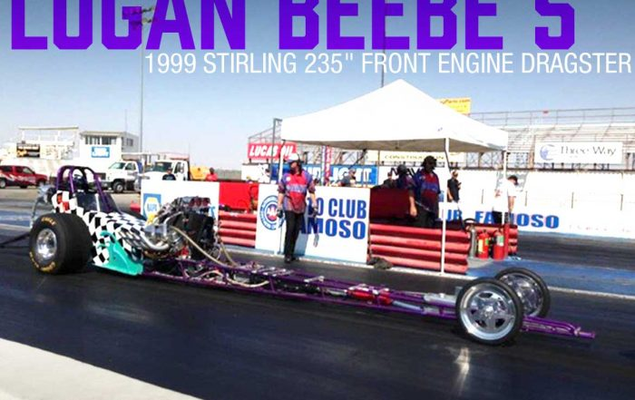 Logan Beebe Ross Racing Pistons Powered Dragster